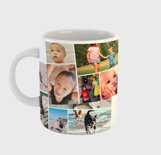 tazza con foto collage