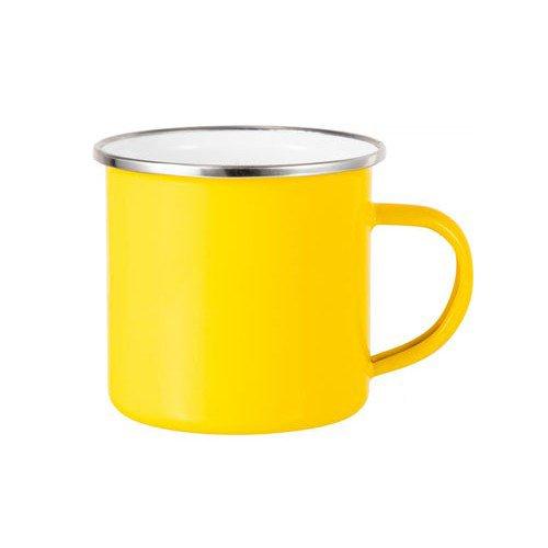 tazza alluminio personalizzata gialla