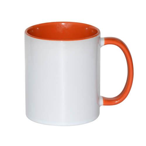 tazza personalizzata arancio