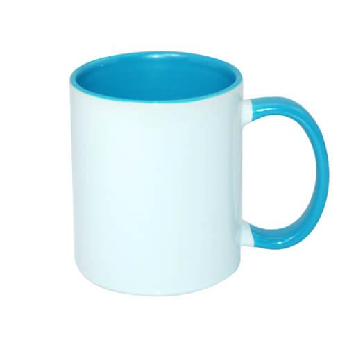tazza personalizzata azzurra