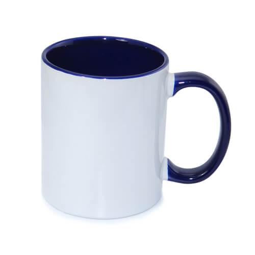 tazza personalizzata blu navy