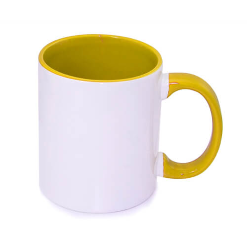 tazza personalizzata gialla