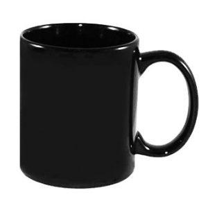 tazza personalizzata nera con logo
