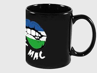 tazze nere con logo
