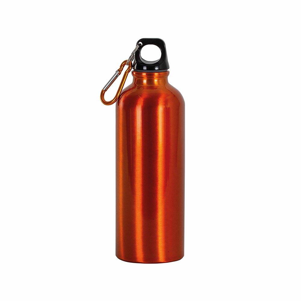 borraccia arancione moschettone 400ml