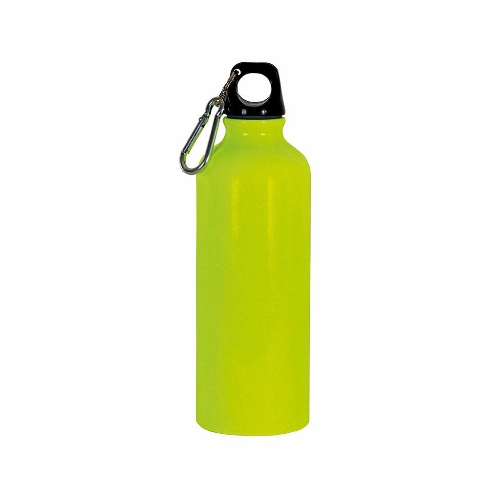 borraccia giallo fluo moschettone 400ml