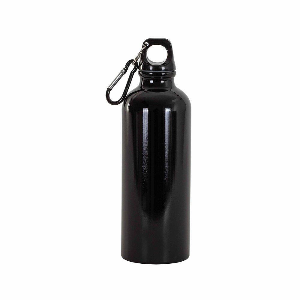 borraccia nera moschettone 400ml