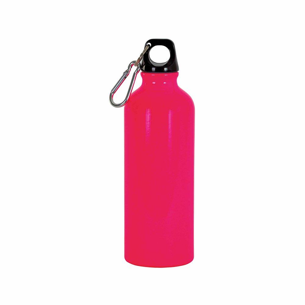 borraccia rosa fluo moschettone 400ml
