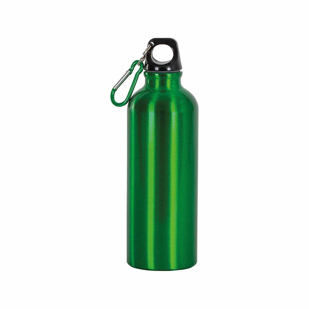 borraccia verde moschettone 400ml