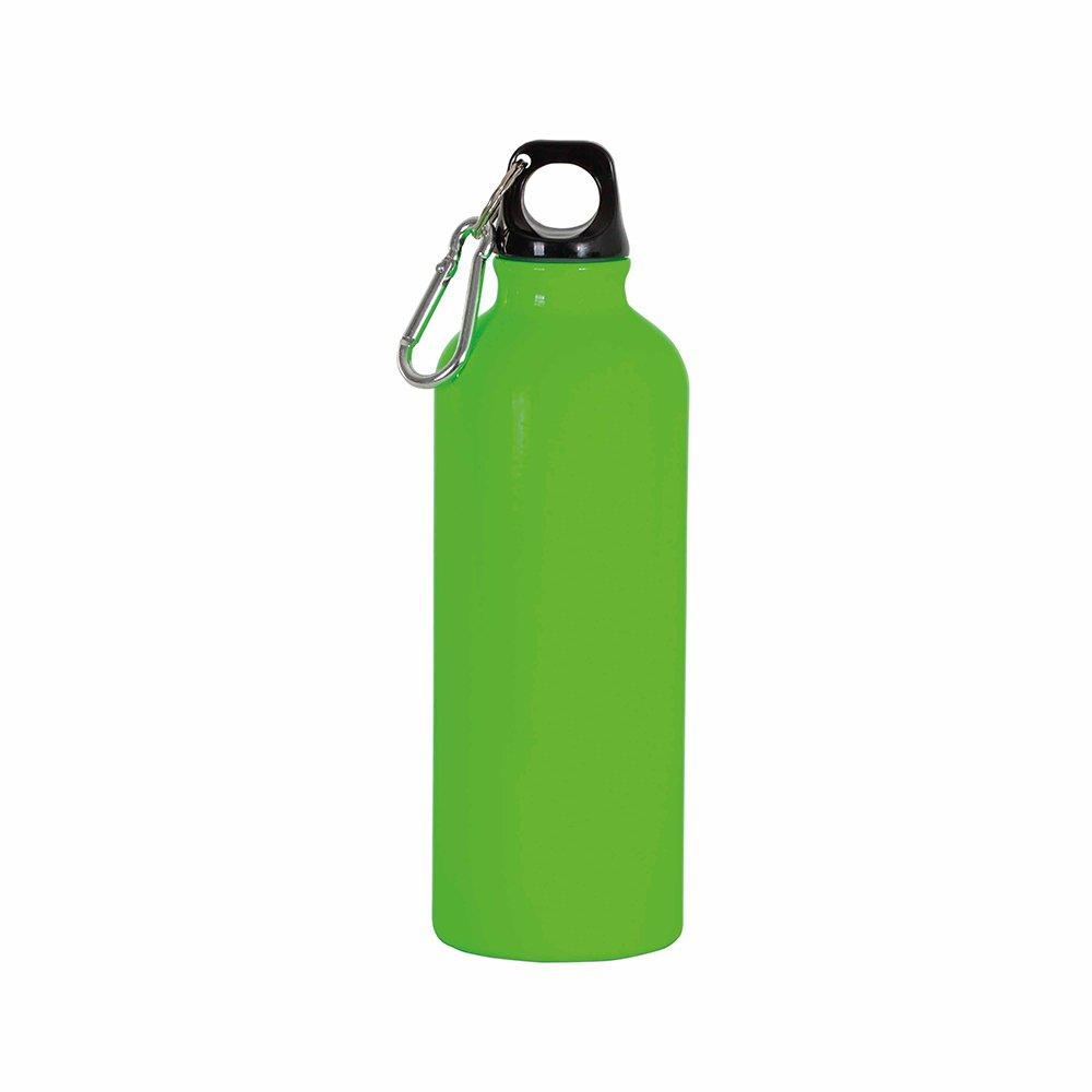 borraccia verde fluo moschettone 400ml