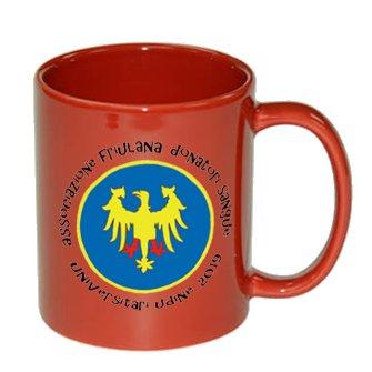 tazza personalizzata rossa con logo