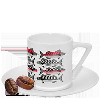 tazzina da caffè personalizzata con manico ad angolo
