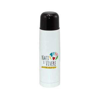 Thermos tappo bicchiere bianco
