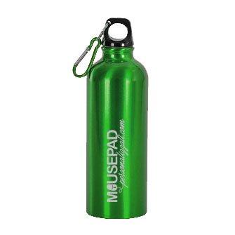 borraccia verde moschettone 750