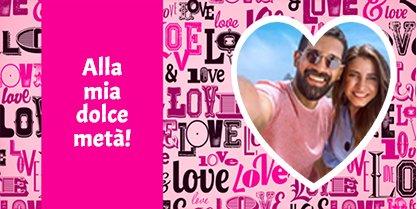 TAZZA LUCIDA PERSONALIZZATA SFONDO LOVE'S