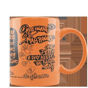 tazza personalizzata fluo arancione