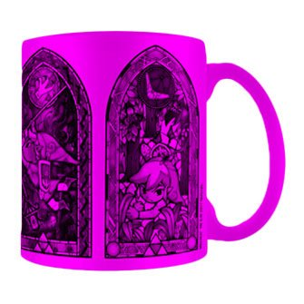 tazze stampate rosa fluo