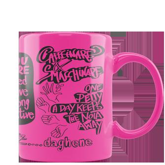 tazza personalizzata fluo rosa