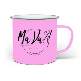 tazza personalizzata in alluminio rosa