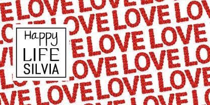 TAZZA LUCIDA PERSONALIZZATA PATTERN LOVE