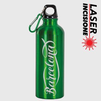 borracce personalizzate con moschettone verde