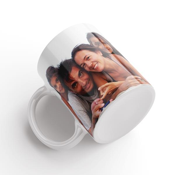 tazza con foto bianca lucida