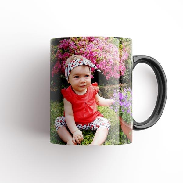 tazza con foto nera