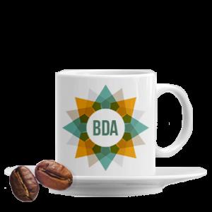 tazzina da caffè personalizzata con piattino